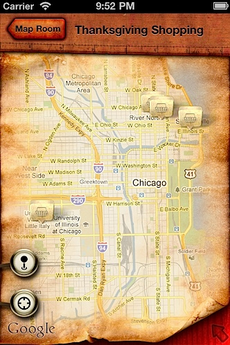 The Cartographer iPhone App Thanksgiving Shopping.jpg