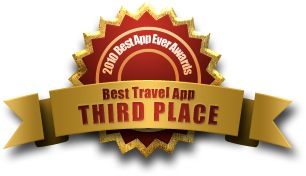 The Cartographer: Third place for Best Travel App in 2010 Best App Ever Awards
