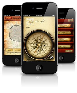 The Cartographer Google My Maps iPhone App v1.2 with compass